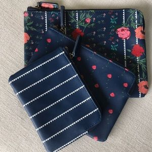 NWT❤️❤️ Anthropologie 3 pack travel/cosmetic bags